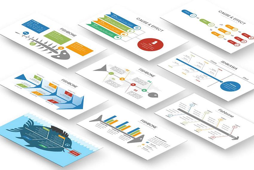 PowerPoint Fishbone Diagram Download