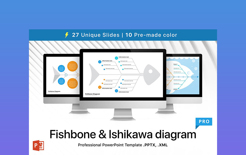 Ishikawa & Fishbone - Cause-and-Effect Diagram Template PPT
