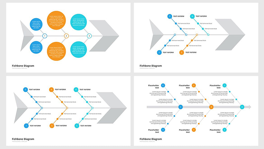 Ishikawa & Fishbone - Cause-and-Effect Diagram Template PPT a premium template on Envato Elements