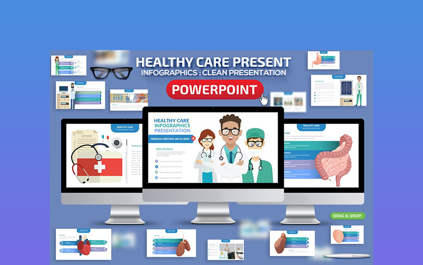 Healthy Infographics PowerPoint Template