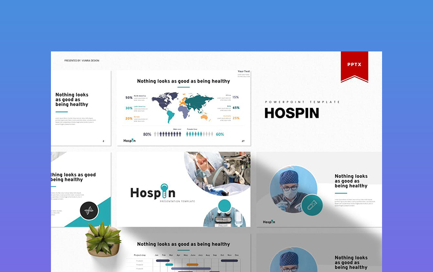 Hospin - Nursing PowerPoint Template