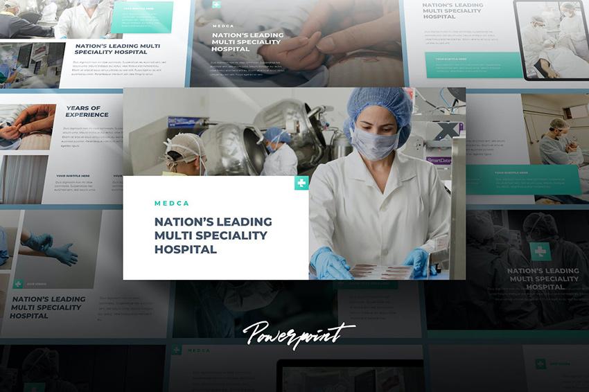 Medca - Medical PowerPoint Template, a premium nursing PPT template on Envato Elements