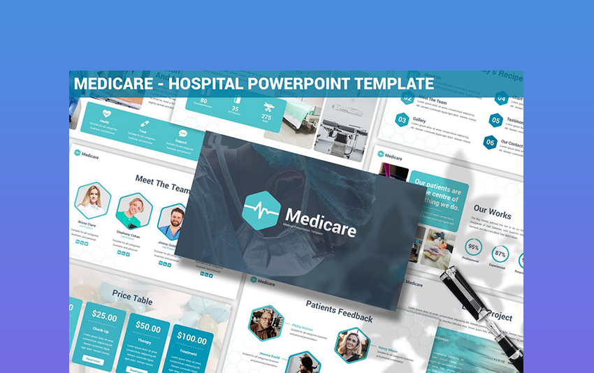 Medicare - Nursing and Hospital PowerPoint Template