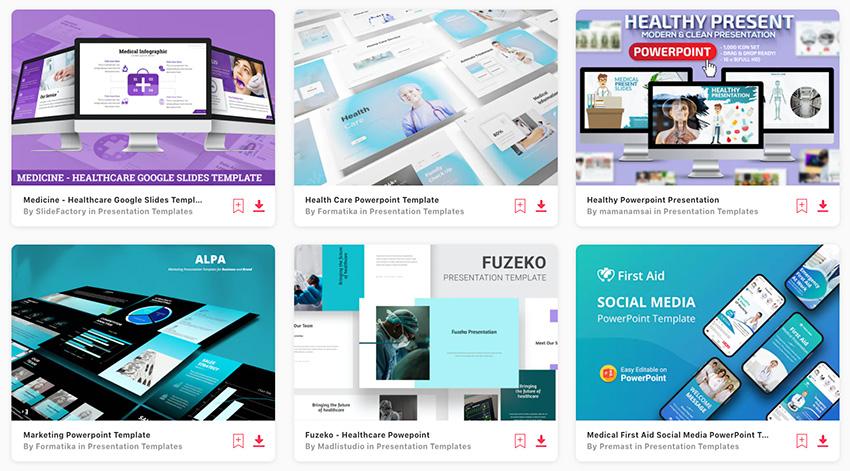 Premium Nursing PowerPoint Templates from Envato Elements