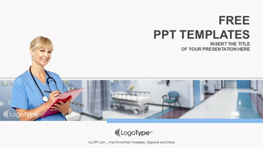 Physician with Clipboard - Free Medical PowerPoint Template