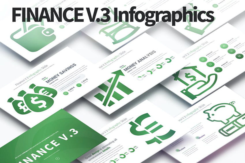 FINANCE V.3 - PowerPoint Infographics Slides