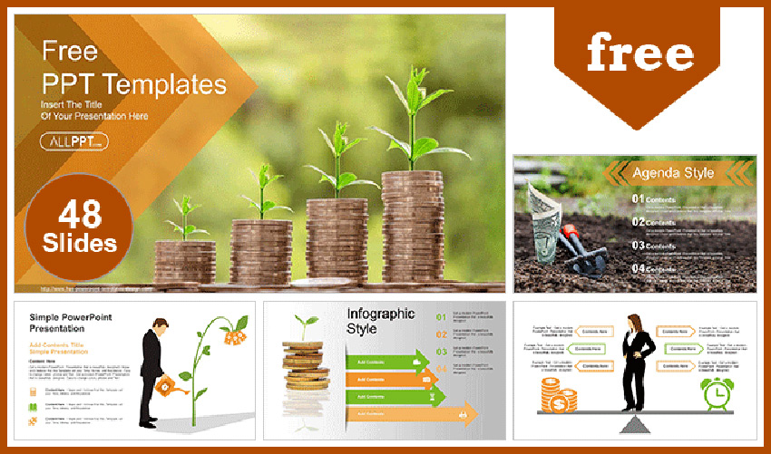Free Money Growing Plan PPT Template