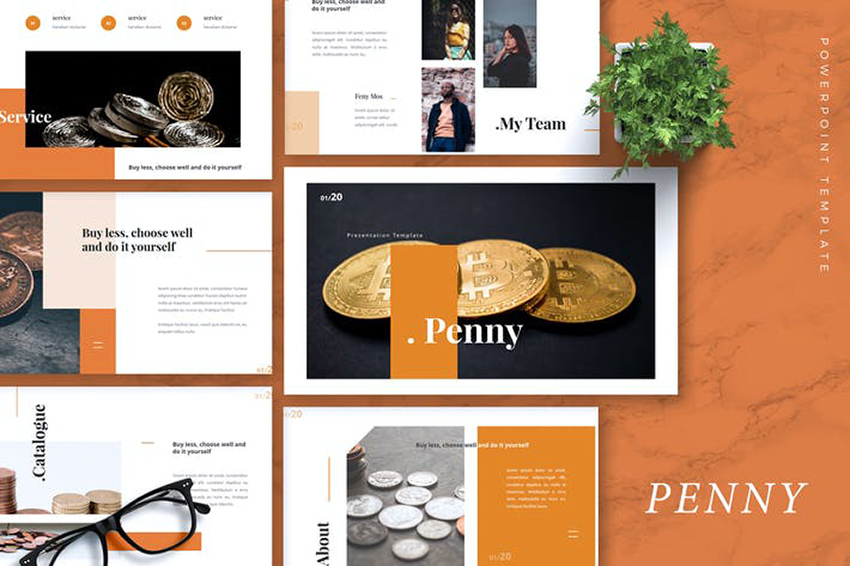Penny - Money PowerPoint Template, a premium file from Envato Elements