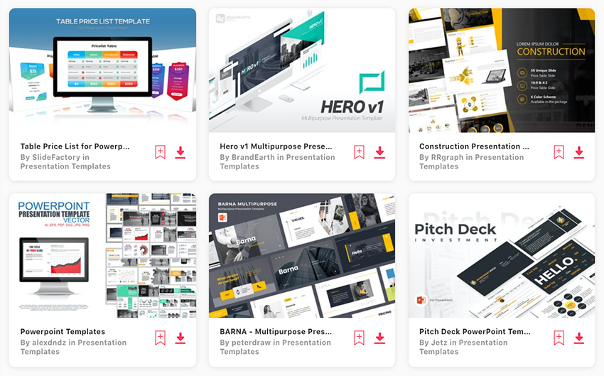 Premium PowerPoint presentation list templates from Envato Elements