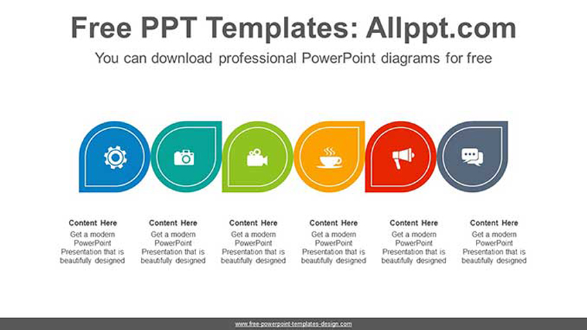 List Water Drop Free Template List PPT