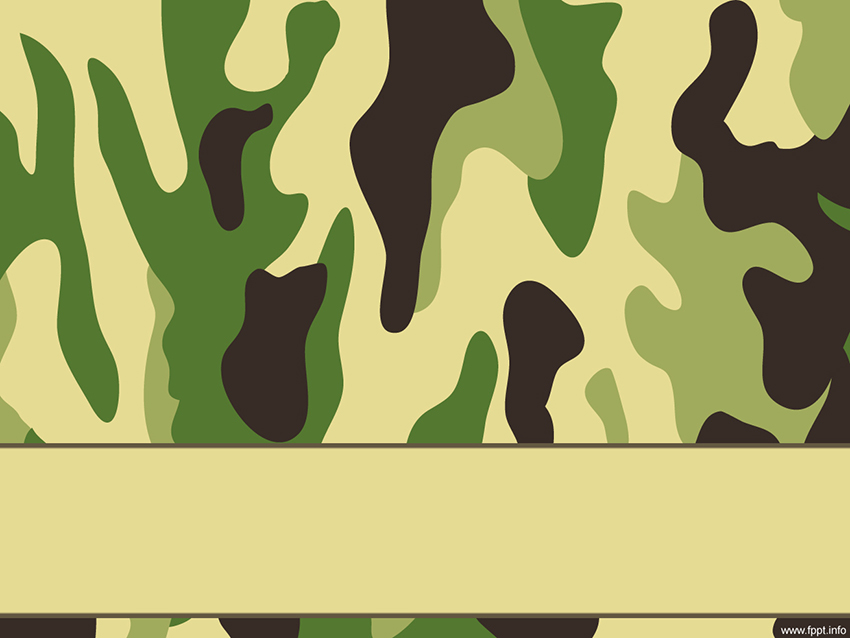 Army Free Camouflage PowerPoint Background Template