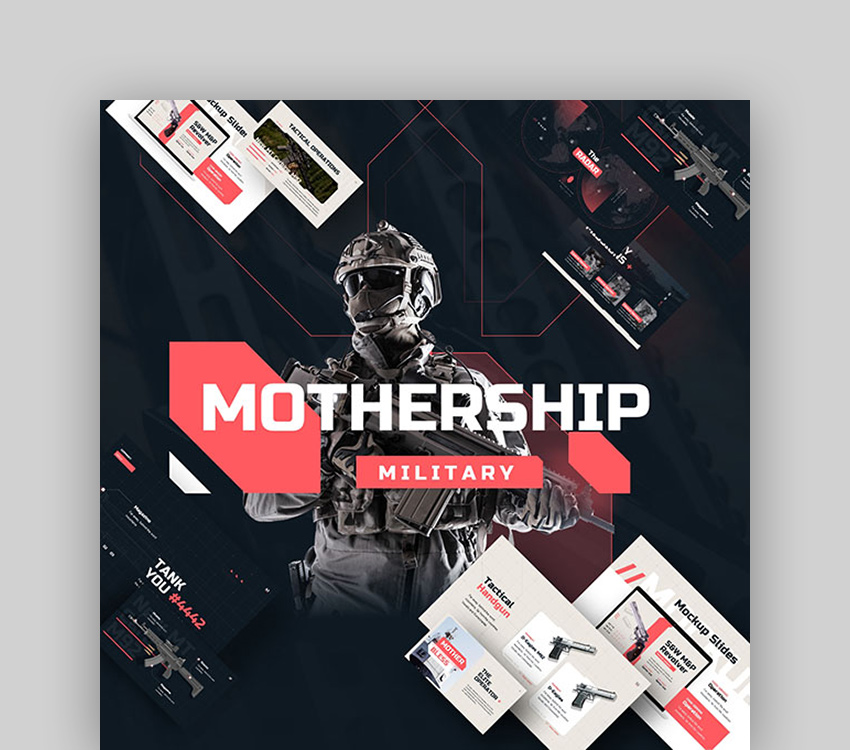 Mothership Military PowerPoint Presentation Template