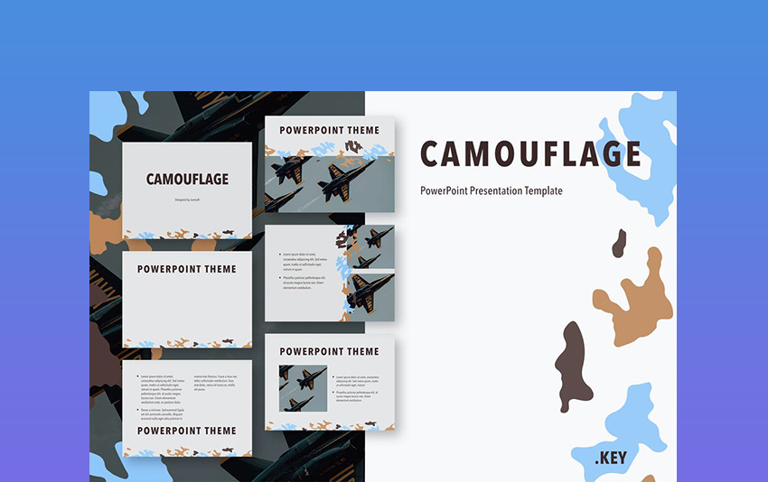 PowerPoint Camouflage Background Template