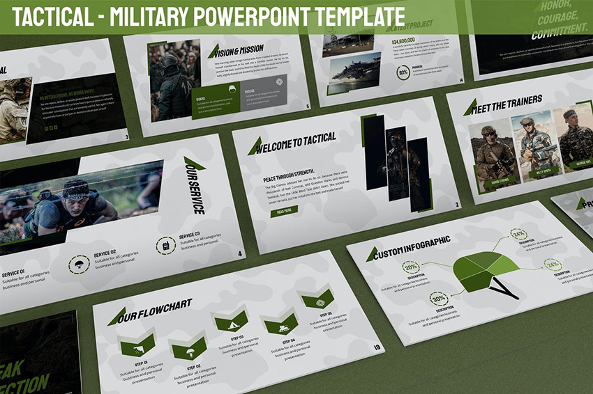 Tactical - Military PowerPoint Template