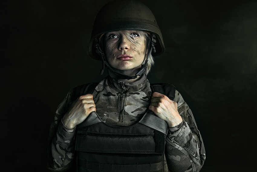 Young Female Soldier, a powerful high-resolution photo from Envato Elements