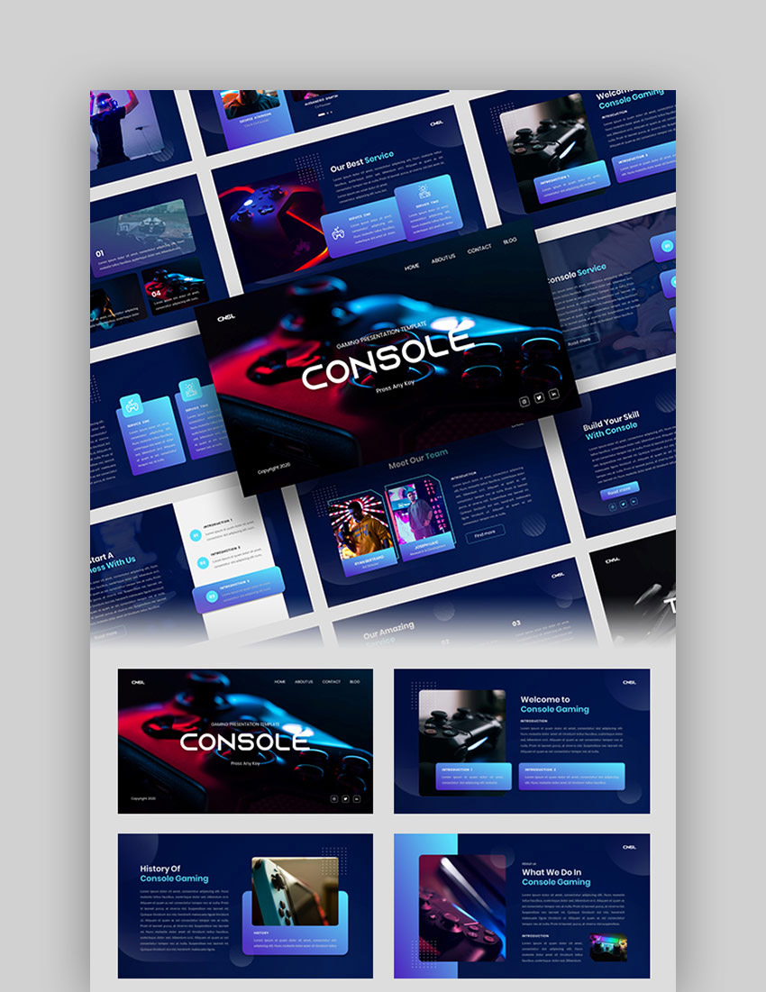 Console - Gaming Google Slides Template