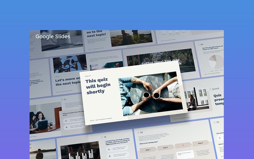 Quave - Quiz Google Slides Template