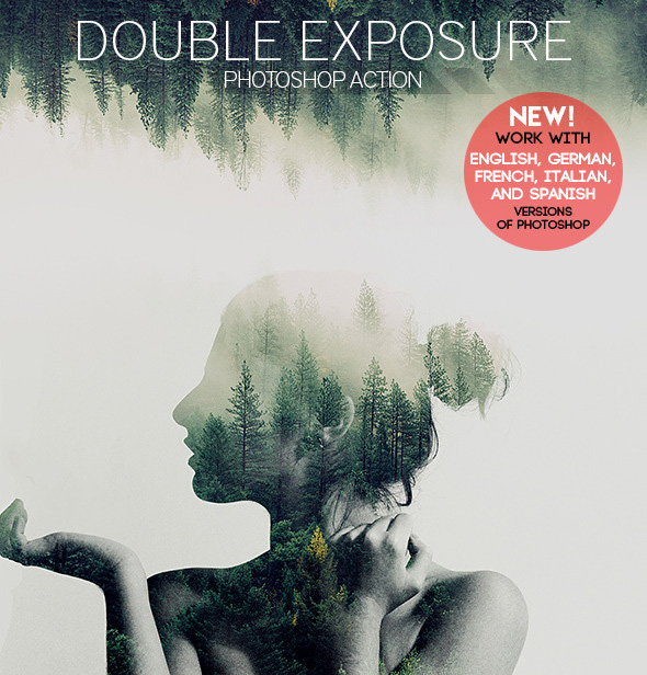Photoshop Action - Double Exposure