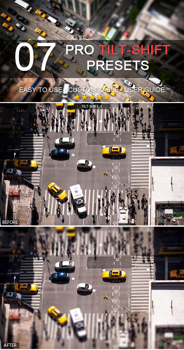 7 Professional Tilt-Shift Lightroom Presets