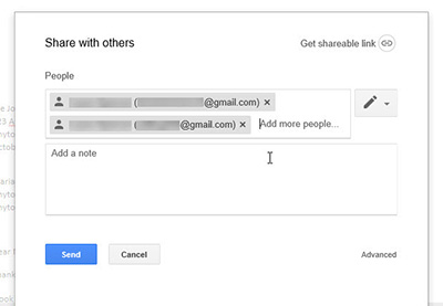 How to share documents with google docs
