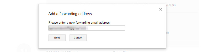 Enter the email address that will receive your forwarded email [60s_share] Cách kết hợp nhiều email thành một tài khoản Gmail