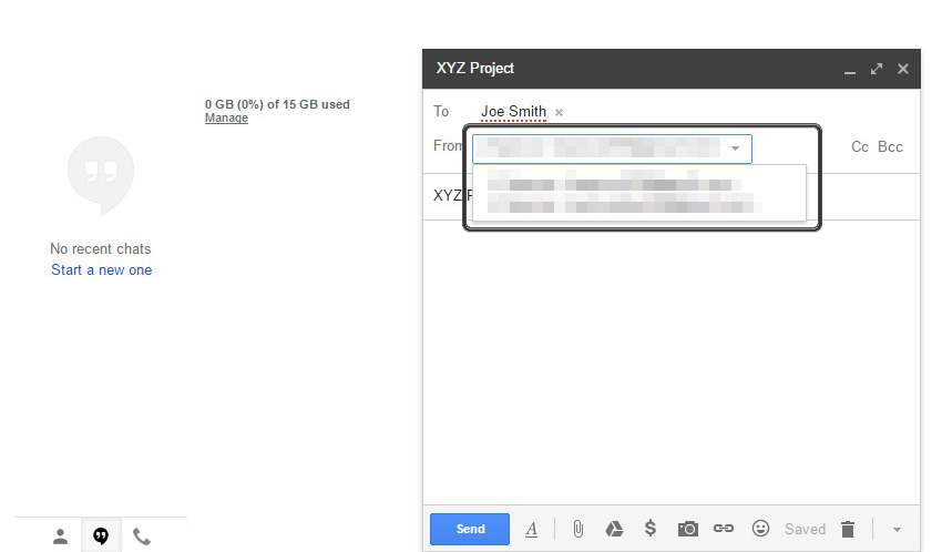 1641d45db81b64 ... Utwórz nową wiadomość. Select the address from which you would like to  send email Wybierz adres ...