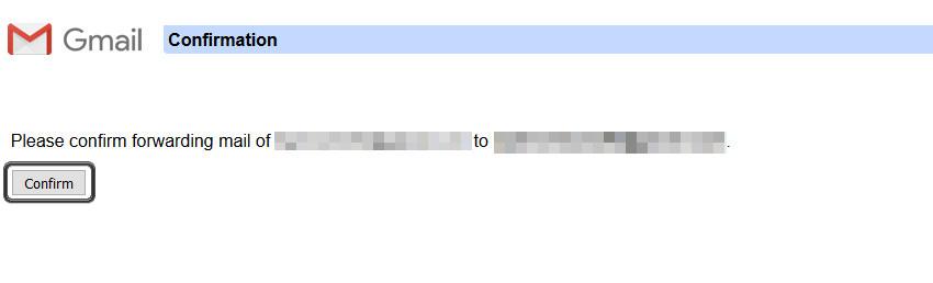 Click Confirm to forward email [60s_share] Cách kết hợp nhiều email thành một tài khoản Gmail