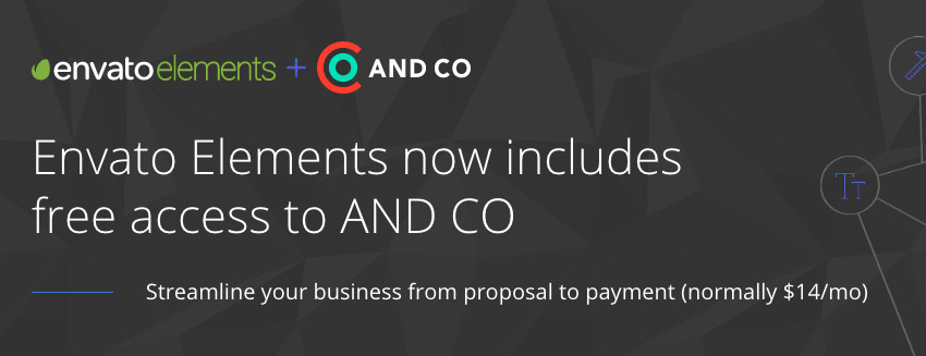 Envato Elements Collaborative Offer with AND CO learn more