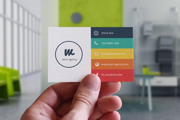 Business Card Information - Flat Design