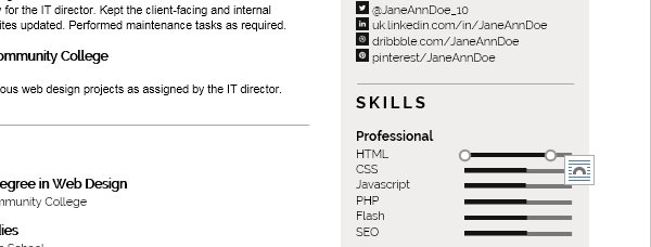 A Modern Resume Template In Ms Word