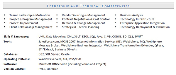 functional resume skills for it director - Languages On Resume