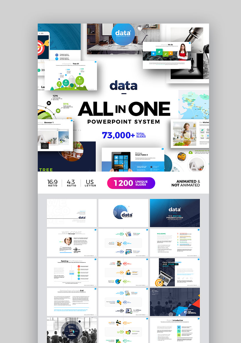 Infografici Data PPT Themes System