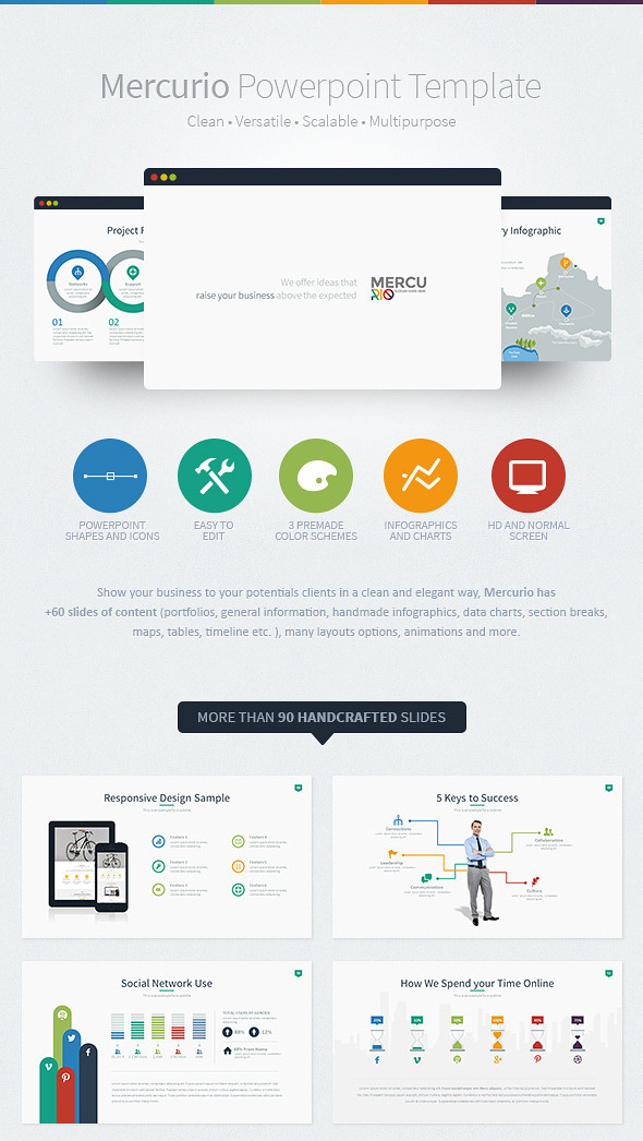 12 best powerpoint presentation templateswith great infographic great powerpoint ppt template mercurio business toneelgroepblik Gallery