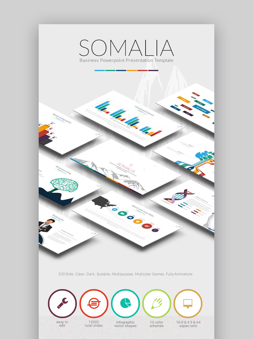 Somalia PPT Business Infographic Slide Template