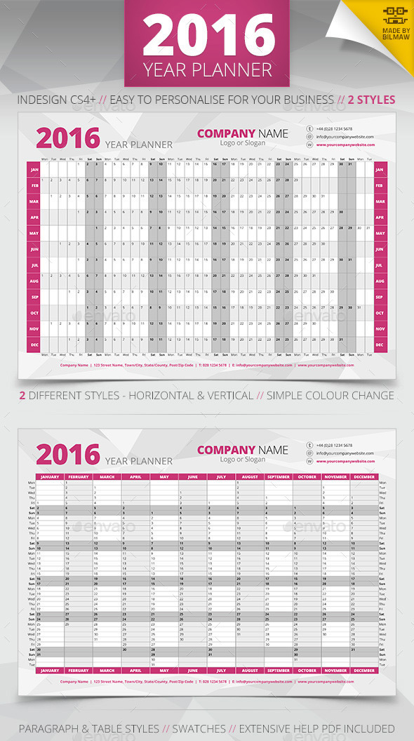Get Ready For 2016 With Printable Monthly Calendar And Blank