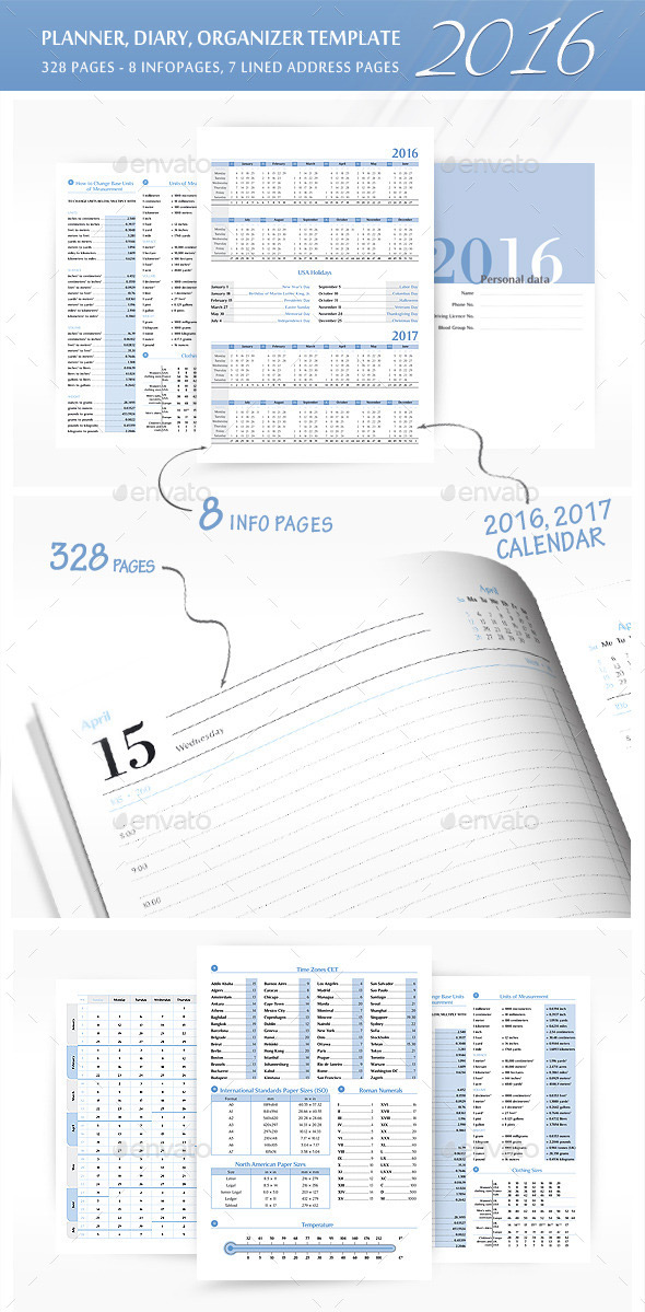 PlannerOrganizer Template for 2016