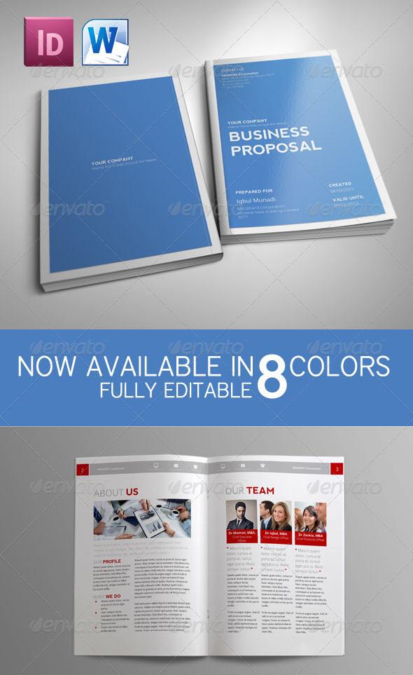 Business Proposal Template  Ms Word Proposal Template