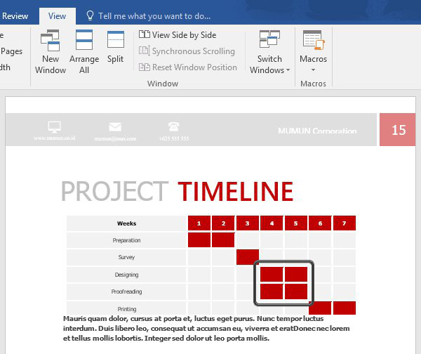 simple project proposal template word .