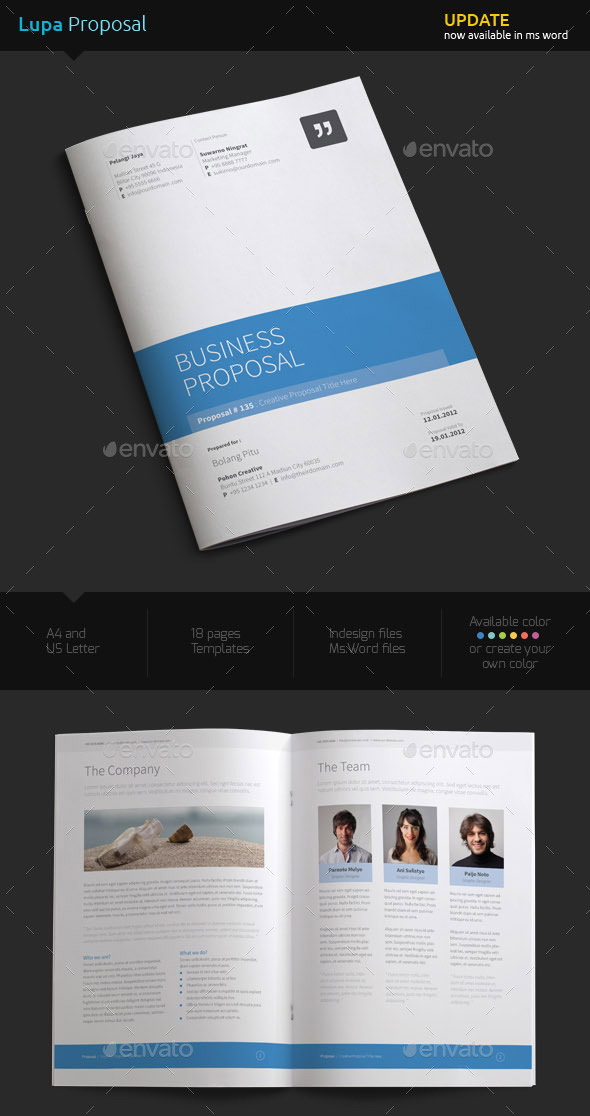 How to customize a simple business proposal template in ms word sample business project proposal template wajeb Image collections