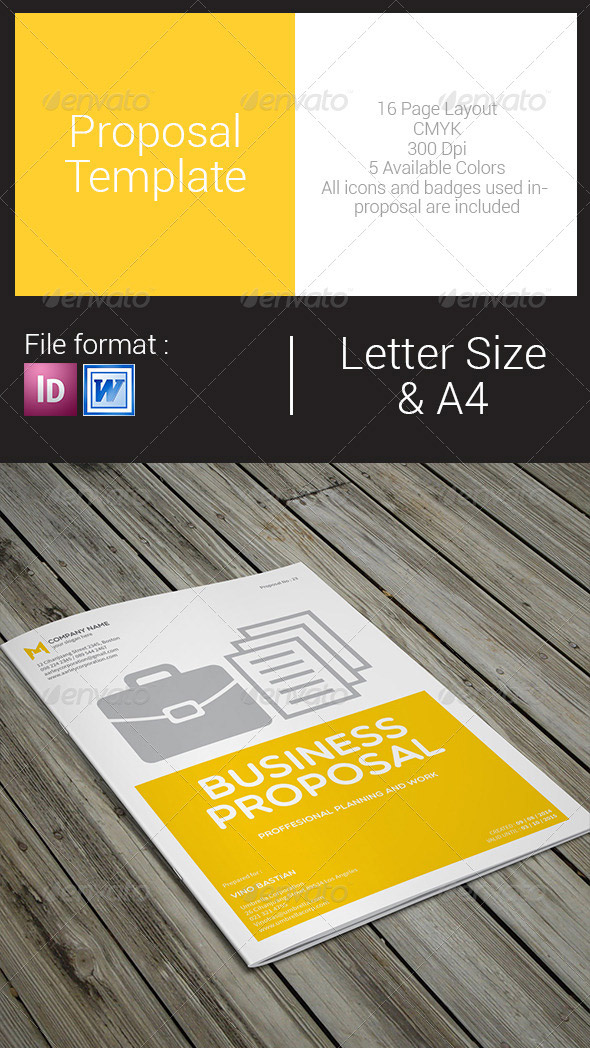 Simple Business Proposal Template  Proposal Templates For Word