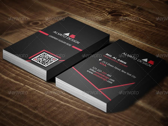 DoubleSided Vertical Business Card Templates Photoshop PSD - Business card vertical template