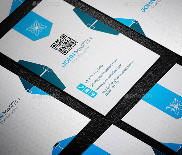 Vertical Simple Corporate Business Card - PSD Template