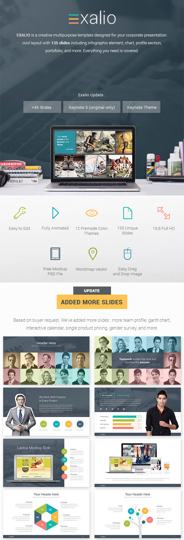 Exalio - Business Keynote Template
