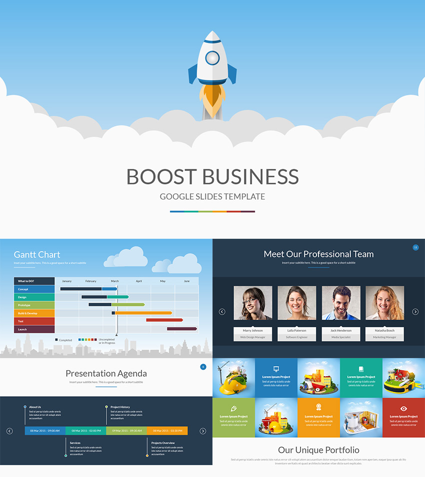 Boost Business Google Drive Presentation Themes