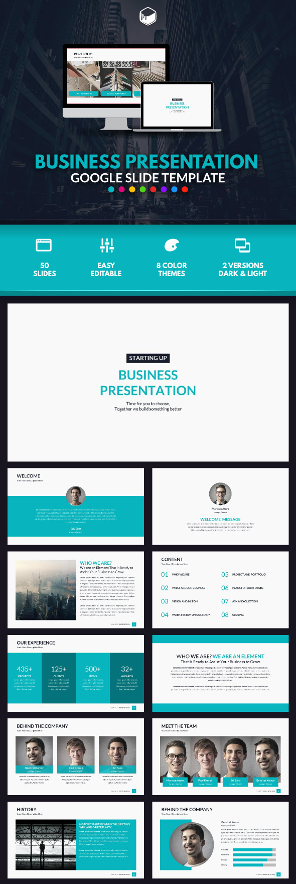 Business Presentation - Google Slide Template