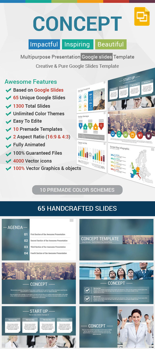 Concept Google Slides Presentation Template