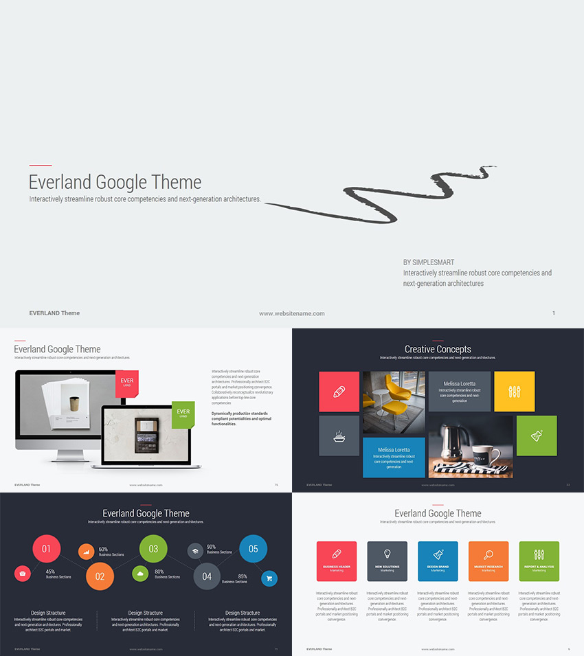 Best Google Slides Presentation Themes Premium Templates To - Awesome free pitch deck template scheme