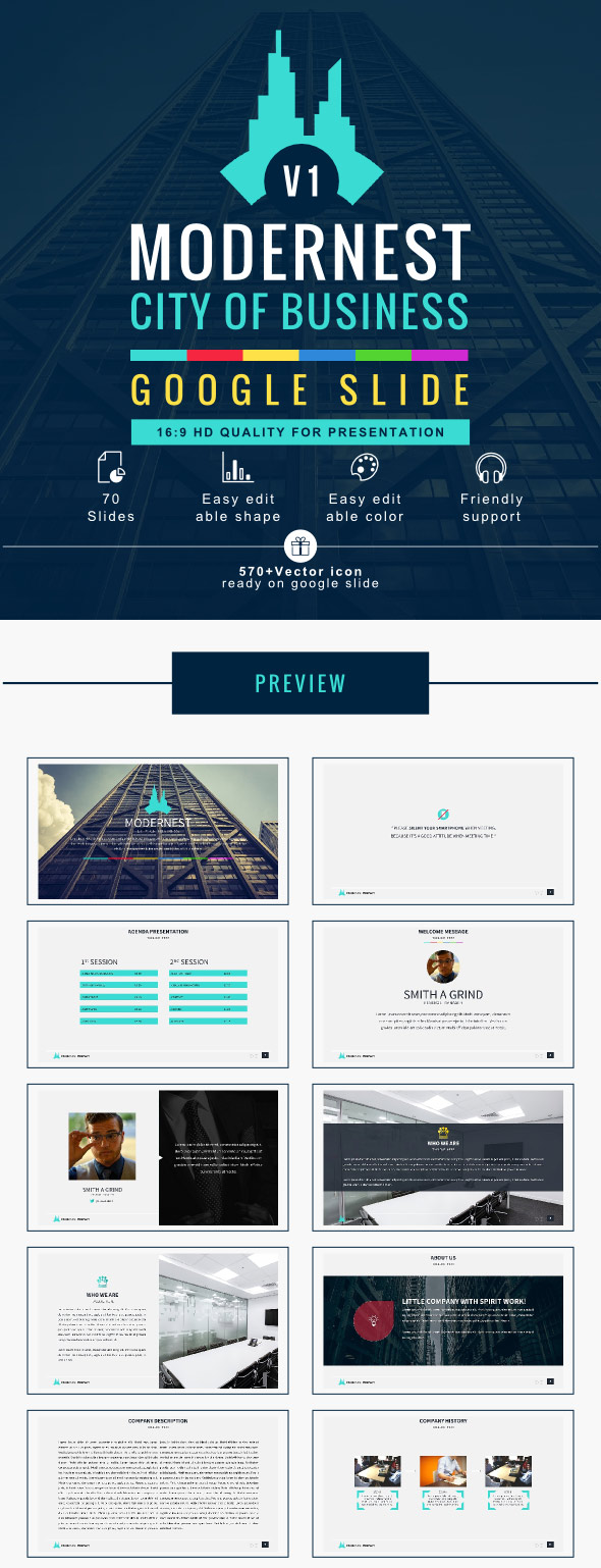 Modernest Business Google Slide Template