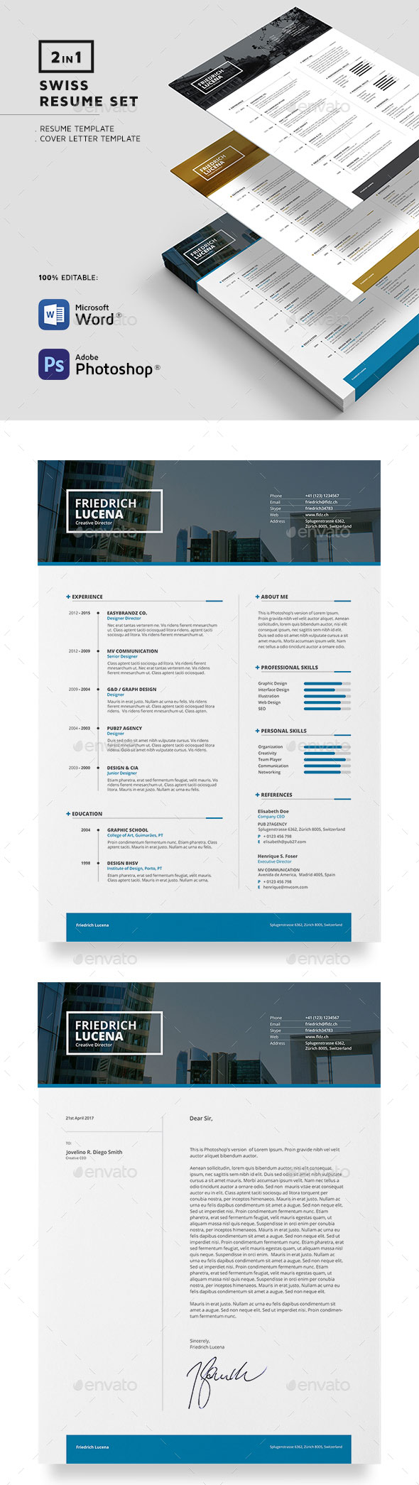 swiss resume template with organize resume sections and formatting - How To Organize A Resume