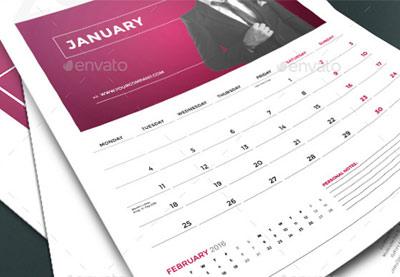 Creative 2016 monthly calendar templates